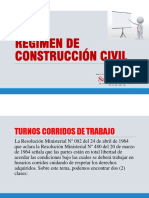 Exposicion de Regimen de Construccion Civil