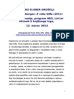 ELSNER GROSELJ Liricni Utrinek Taja Kramberger RTV SLO ARS 2012