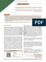 Cheiloscopy for Sex Determination a Study