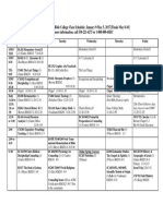 spring 2017 class schedule