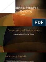 compounds mixtures and bonding