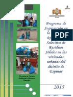 2015 Programa de Segregacion en La Fuente Espinar