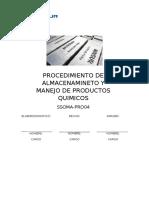 Procedimiento de Productos Quimicos