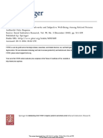 Welfare Systems, Support Networks and Subjective Well-Being Among Retired Persons