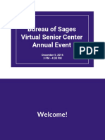 bureau of sages virtual senior center annual event