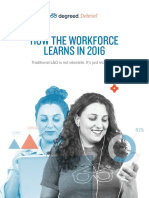 Degreed How the Workforce Learns in 2016