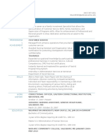 a resume updated 11-9-16