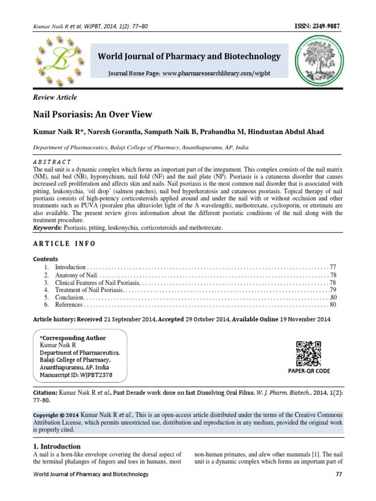 Nail Psoriasis | Nail (Anatomy) | Psoriasis