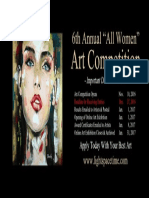 "6th Annual ""All Women"" Online Art Competition - Event Poster"
