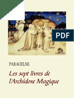 Les Sept Livres de LArchidoxe Magique