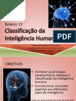 Roteiro 12 Classificação Da Inteligência Humana