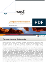 Intersect ENT (XENT) Investor Overview