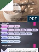 Verificación de funcionalidad de conservantes en aliment