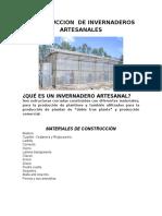 Construccion de Invernaderos Artesanales