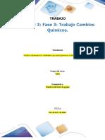 Evidencias de Trabajo Colaborativo – Unidad 3 Fase 3 Trabajo Cambios Químicos.