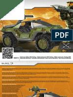 Mega Bloks Set 96973 Halo Anniversary Edition - UNSC Warthog