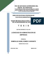 Bases Metodológicas para la detención de las necesidades de capacitación