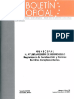 Reglamento Hmo 2012
