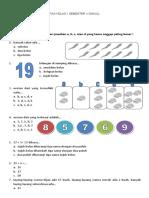 Soal Latihan Uas Matematika Kelas 1 Ganjil