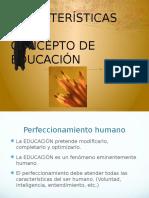 Caract Del Conc de Educ