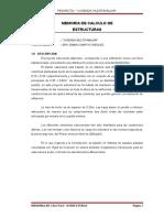 Memoria Descriptiva de Estructuras - Propuesta
