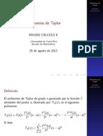 Polinomios de Taylor