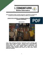 El Comunitario - Boletin Informativo de La Parte Oriental de Suba No. 1
