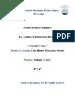 Biologia Celular Cuestionario