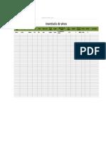Planilla de Excel Para Inventario de Vinos