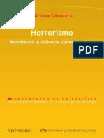 Cavarero Adriana - Horrorismo - Nombrando La Violencia Contemporanea.pdf
