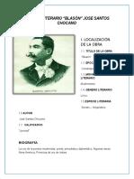 ANÁLISIS LITERARIO Jose Santos Chocano