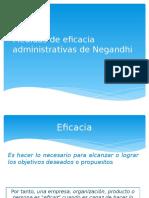 Medidas de Eficacia Administrativas