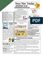 newsletter november 21-25