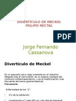 Divertículo de Meckel y Polipo Rectal_jorge Cassanova