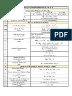 Formulário Para Dimensionamento de Engrenagens Retas