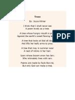 Poem and Short Stofy