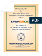 DNB PD-CET January 2014 Secondary Course 1-10-1300