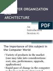 Session #1 Computer Organization