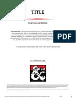 D&D5E DMs Guild Adventure Template