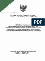 13-2002-Keputusan kepala BKN tentang KETENTUAN PELAKSANAAN PP NO 100 TAHUN 2000 TENTANG PENGANGKATAN PNS DALAM JABATAN STRUKTURAL SEBAGAIMANA TELAH DIUBAH DENGAN PP NO 13 TAHUN 2002.pdf