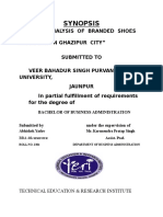 """Synopsismarket Analysis of Branded Shoes Available in Ghazipur City"""""""
