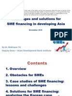 Challenges and Solutions for SME Financing in Developing Asia