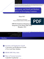 Innovation, Employment, And Small and Medium