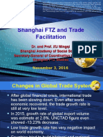 Shanghai FTZ and Trade Facilitation