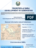 Key Priorities of SMEs' Development in Uzbekistan