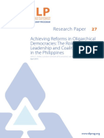 Achieving Reforms in Oligarchical Democracies - The Role of Leadership and Coalitions in the Philippines