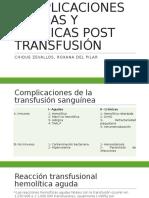 Complicaciones Agudas y Crónicas Post Transfusión