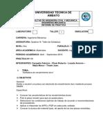 Informe Practica 8 Campaña F. - Chasi R. – Lozada J. – Mejía M. -Tirado J.