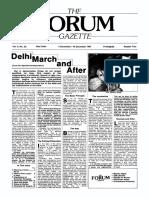 The Forum Gazette Vol. 2 No. 23 December 5-19, 1987