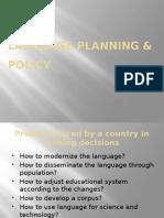 Language Planning & Policy